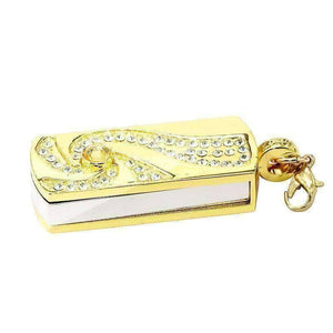 Feshionn IOBI accessories 8G Swirling Crystal Encrusted USB Flash Drive Memory Stick