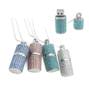 Feshionn IOBI accessories Clear ON SALE - 8G Crystal Encrusted USB Flash Drive Memory Stick