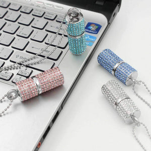 Feshionn IOBI accessories ON SALE - 8G Crystal Encrusted USB Flash Drive Memory Stick
