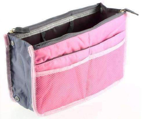 "Feshionn IOBI accessories Pink and Gray ""Bag In Bag"" All Purpose Multi-Section Expandable Tote - 5 Colors to Choose!"