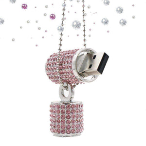 Feshionn IOBI accessories Pink ON SALE - 8G Crystal Encrusted USB Flash Drive Memory Stick