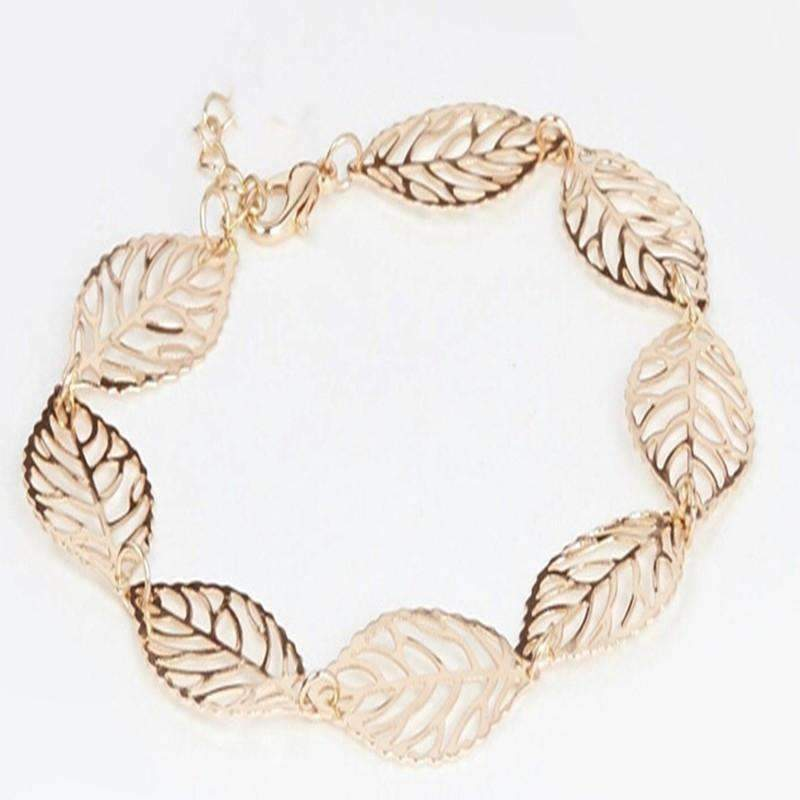 Feshionn IOBI Anklets Seasons of Beauty Leaf Cut Out Ankle Bracelet