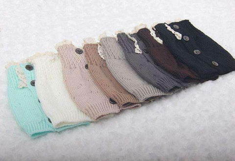 Feshionn IOBI Apparel Lacey Leg Warmer Boot Knit Socks