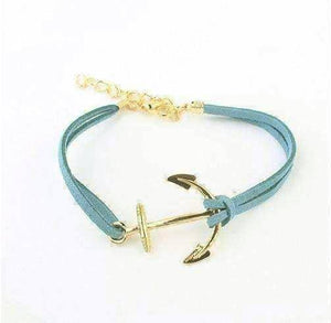 Feshionn IOBI bracelets Blue Anchors Away Suede Leather Bracelet - Choose Your Color