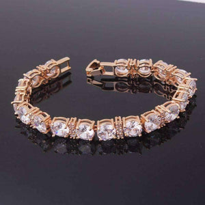 Feshionn IOBI bracelets Brilliance Oversize Diamond CZ Tennis Bracelet in Gold