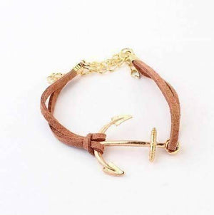 Feshionn IOBI bracelets Brown Anchors Away Suede Leather Bracelet - Choose Your Color