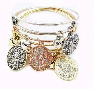 Feshionn IOBI bracelets CLEARANCE - Love & Protection Hamsa Adjustable Bangle Bracelet - 4 Colors