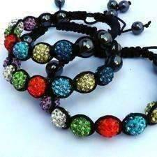 Feshionn IOBI bracelets Colorful Sparkly Crystals Hand Made Shamballa - Multicolor Crystal and Hematite Shamballa Bracelet