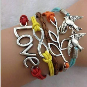 Feshionn IOBI bracelets Earth Tone Nature Lover Multi Color Handmade Leather Friendship Bracelet
