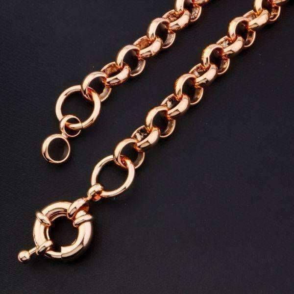Feshionn IOBI bracelets Rose Gold Floral Etched Heart Padlock Charm Bracelet in Rose Gold
