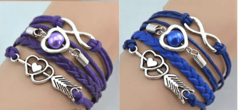 Feshionn IOBI bracelets Forever Love Handmade Braided Leather Friendship Bracelet - Three Colors To Choose
