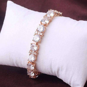 Feshionn IOBI bracelets Gold Brilliance Oversize Diamond CZ Tennis Bracelet in Gold