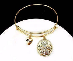 ON SALE - Love & Protection Hamsa Adjustable Bangle Bracelet - 4 Colors
