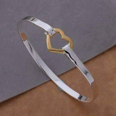 Feshionn IOBI bracelets Heart of Gold Bangle Bracelet