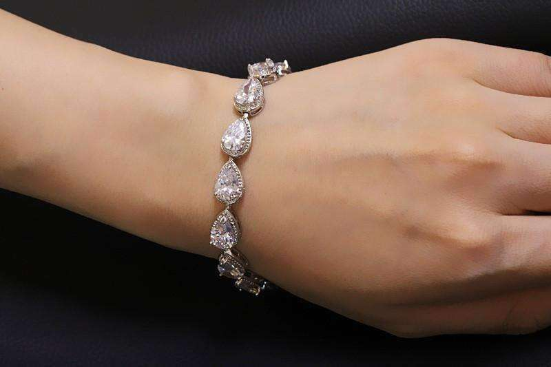 Feshionn IOBI bracelets Infused Water Drop CZ Tennis Bracelet