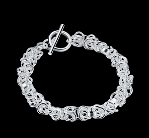 Feshionn IOBI bracelets Knotted Links Sterling Silver Toggle Bracelet