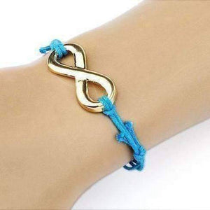 Feshionn IOBI bracelets Light Blue Infinity Friendship Bracelet -Choose your Color