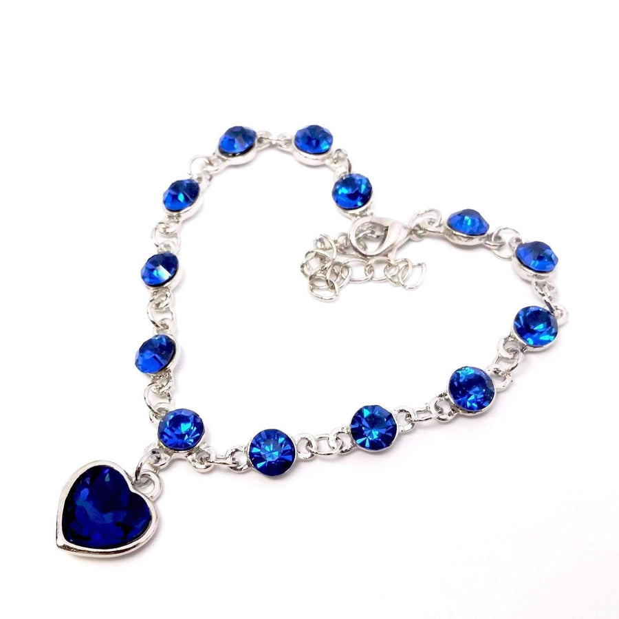 ON SALE - Linked Forever Crystal Heart Charm Bracelet