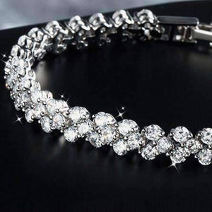 Feshionn IOBI bracelets Mosaic 90 Swiss CZ Diamonds Tennis Bracelet In Three Colors