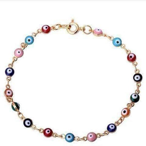 Feshionn IOBI bracelets Multi Teeny Tiny 'Evil Eye' Multi-color Bracelet