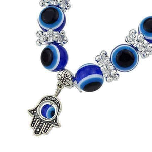 Feshionn IOBI bracelets ON SALE - Blue Bead 'Evil Eye' Hamsa Charm Bracelet