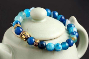 Feshionn IOBI bracelets ON SALE - Buddha Bead Genuine Agate Gemstone Bracelet