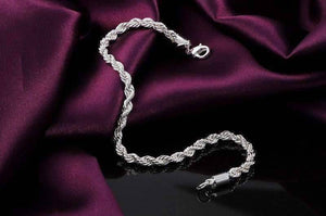 Feshionn IOBI bracelets ON SALE - Diamond Cut Rope Chain Sterling Silver Bracelet