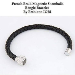 Feshionn IOBI bracelets ON SALE - French Braid Shamballa Magnetic Bangle Bracelet