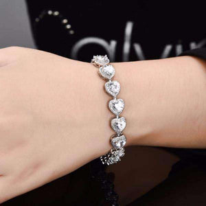 Feshionn IOBI bracelets ON SALE - Love Game CZ Heart Tennis Bracelet
