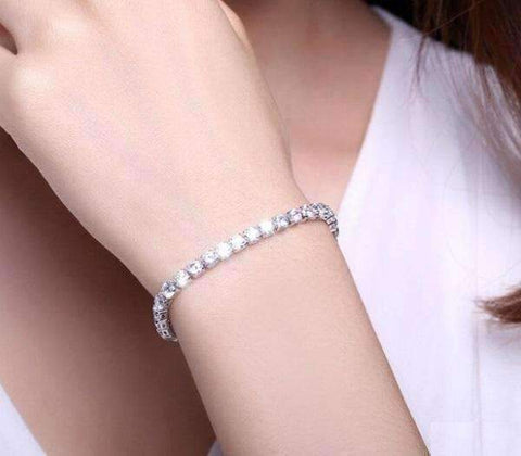 Feshionn IOBI bracelets ON SALE - Petite Luxe 4mm Swiss CZ Tennis Bracelet
