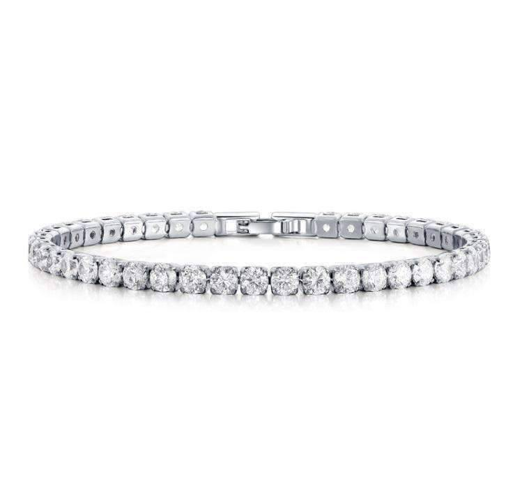 Feshionn IOBI bracelets Diamond White / 17 ON SALE - Petite Luxe 4mm Swiss CZ Tennis Bracelet