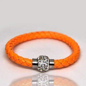 Feshionn IOBI bracelets Orange ON SALE - French Braid Shamballa Magnetic Bangle Bracelet