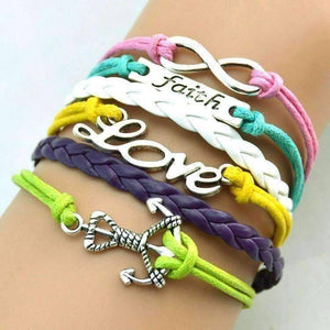 Feshionn IOBI bracelets Pastels The Colors of Love Handmade Pastel Leather Friendship Bracelet