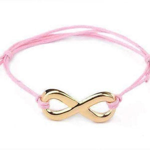 Feshionn IOBI bracelets Pink and Gold Tone Infinity Friendship Bracelet