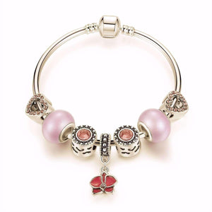 "Feshionn IOBI bracelets Pink ""Think Pink"" Silver Bangle Bracelet"