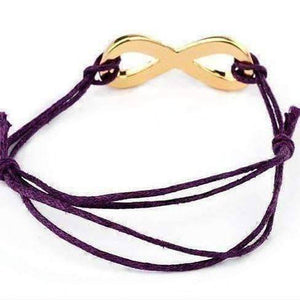 Feshionn IOBI bracelets Purple Infinity Friendship Bracelet -Choose your Color
