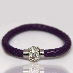 Feshionn IOBI bracelets Purple ON SALE - French Braid Shamballa Magnetic Bangle Bracelet