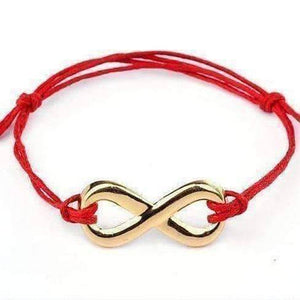 Feshionn IOBI bracelets Red Infinity Friendship Bracelet -Choose your Color
