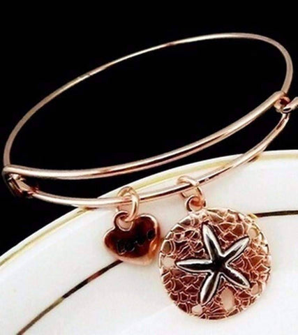 Feshionn IOBI bracelets Rose Gold CLEARANCE - Starfish Love Adjustable Bangle Bracelet - Choose Your Color