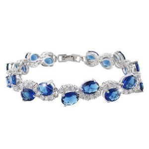 Feshionn IOBI bracelets Sapphire Blue Diamonds Luxury Tennis Bracelet