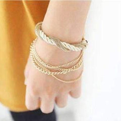Silky Ropes and Chains Bracelet in Ivory