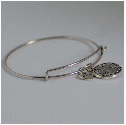 Feshionn IOBI bracelets Silver CLEARANCE - Love Cross Adjustable Bangle Bracelet - Choose Your Color