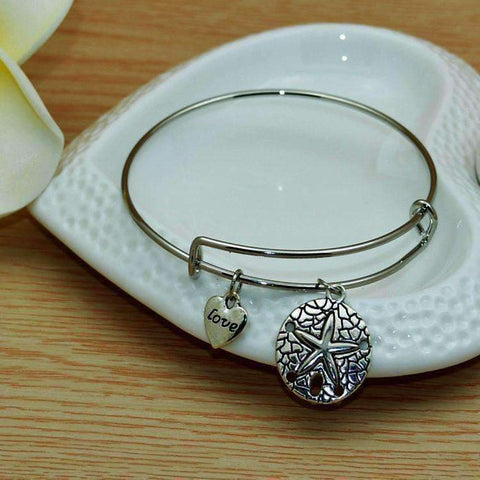 Feshionn IOBI bracelets Silver CLEARANCE - Starfish Love Adjustable Bangle Bracelet - Choose Your Color