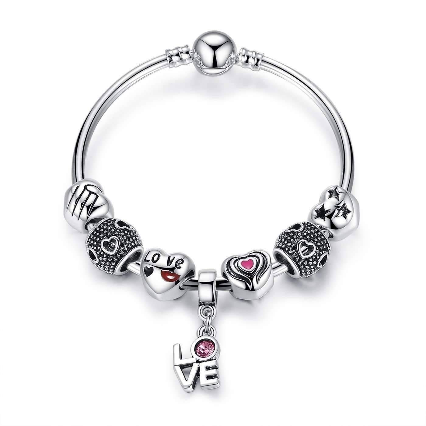 On Super Sale True Love Heart Charm Bead Collection