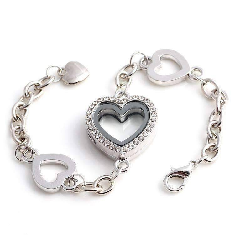 Feshionn IOBI bracelets Story of My Life Heart Shaped Charm Locket Bracelet - Four Colors to Choose!