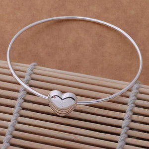 Feshionn IOBI bracelets Silver Sweetheart Sterling Silver Bangle Bracelet