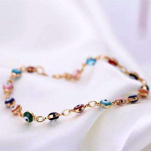 Feshionn IOBI bracelets Teeny Tiny 'Evil Eye' Multi-color Bracelet
