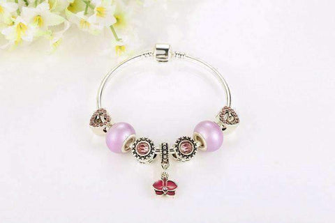"Feshionn IOBI bracelets ""Think Pink"" Silver Bangle Bracelet"