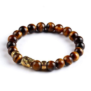 Feshionn IOBI bracelets Tiger Eye ON SALE - Buddha Bead Genuine Agate Gemstone Bracelet