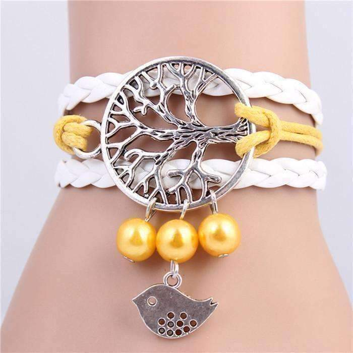 Feshionn IOBI bracelets Tree of Life Yellow Handmade Friendship Bracelet